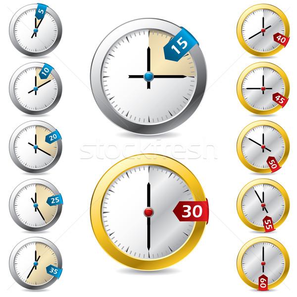 Szett vektor időzítő terv új óra Stock fotó © vipervxw