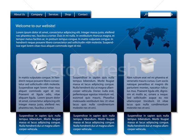 élégant bleu conception de site web produit présentation affaires Photo stock © vipervxw