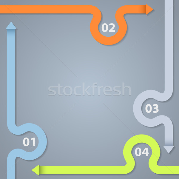 Infographic design with options and descriptions Stock photo © vipervxw