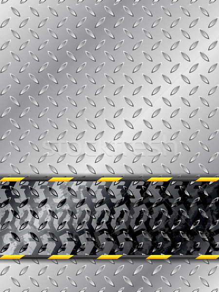 Abstract industrial background with tire track Stock photo © vipervxw