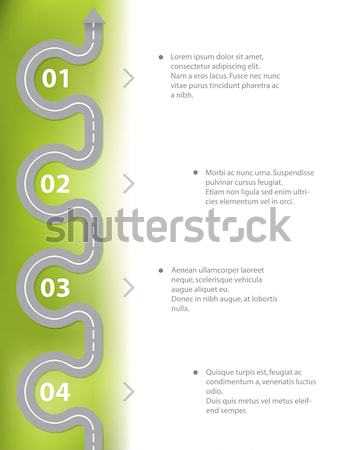 Simplistic infographic design with 4 options Stock photo © vipervxw
