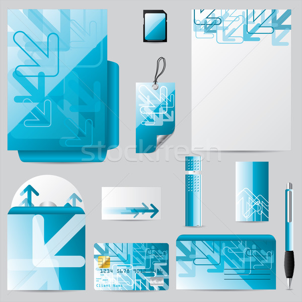 Stationary business set with arrows Stock photo © vipervxw