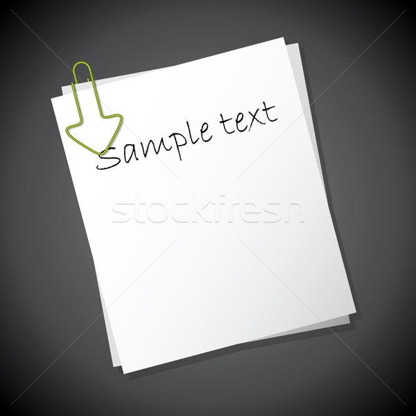 стрелка скрепку указывая текста образец Сток-фото © vipervxw