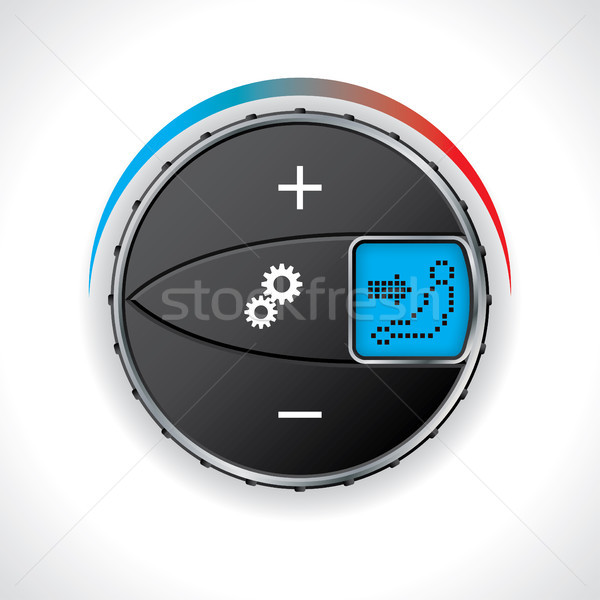 Airconditioning display auto licht ontwerp Stockfoto © vipervxw