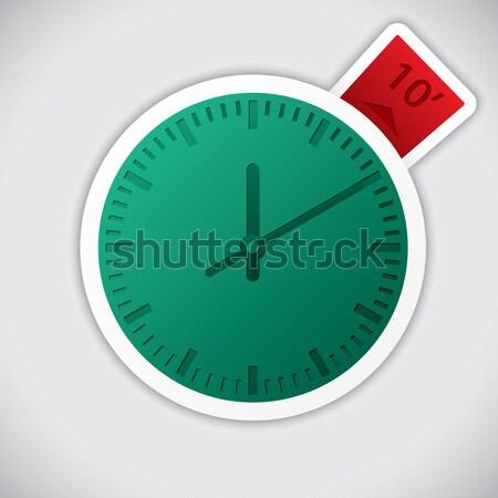 Reloj etiqueta 10 minuto etiqueta rojo Foto stock © vipervxw