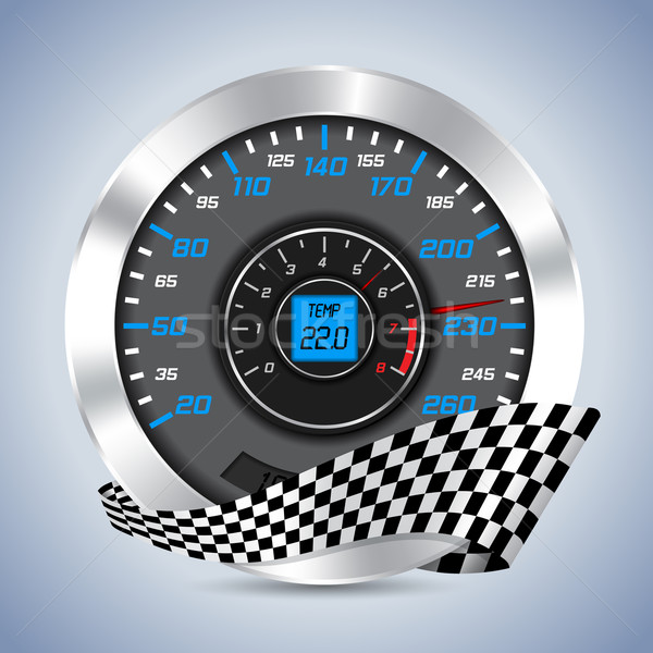 Speedometer with rev counter Stock photo © vipervxw