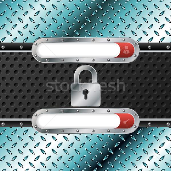 Abstract metallico login schermo design industriali Foto d'archivio © vipervxw