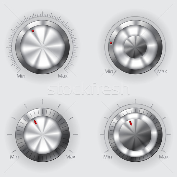 Metallic volume controllers Stock photo © vipervxw