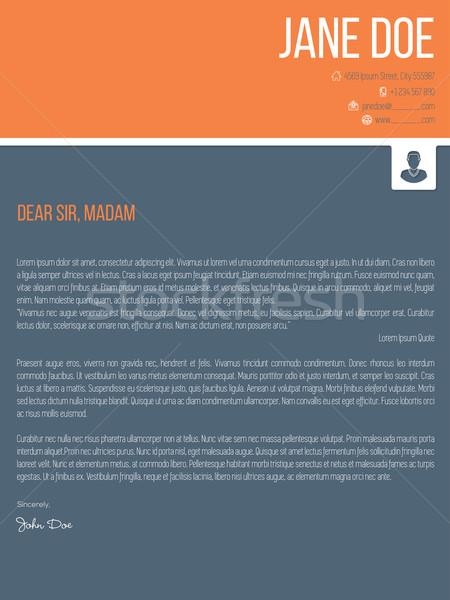 Kleurrijk moderne dekken brief cv Stockfoto © vipervxw