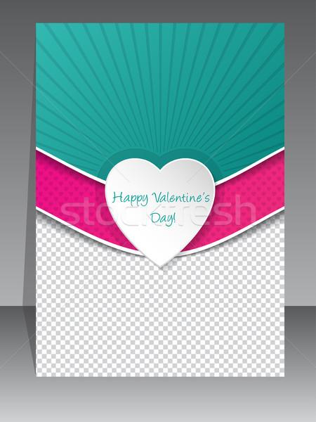 Valentine gün tebrik fotoğraf konteyner tebrik kartı Stok fotoğraf © vipervxw