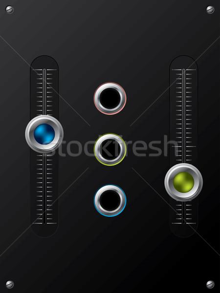 Hangerő külső hangfalak mikrofon zöld erő Stock fotó © vipervxw