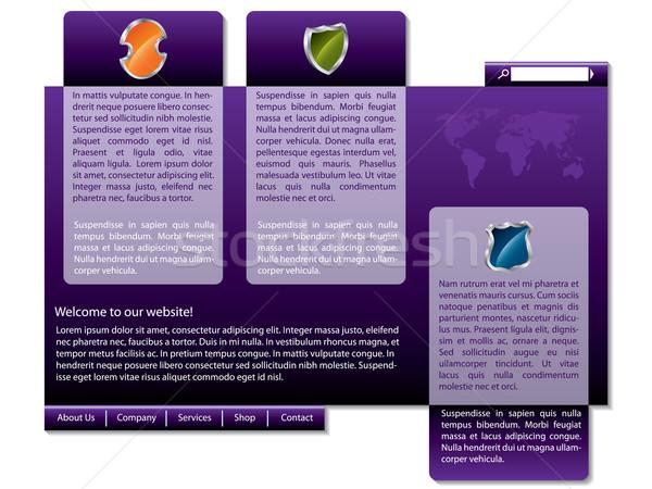 Stylish purple website design Stock photo © vipervxw