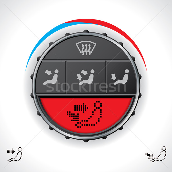 Multifunctional car clima control with red display Stock photo © vipervxw