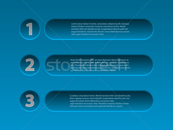 Simplistic 3d infographic design in blue Stock photo © vipervxw