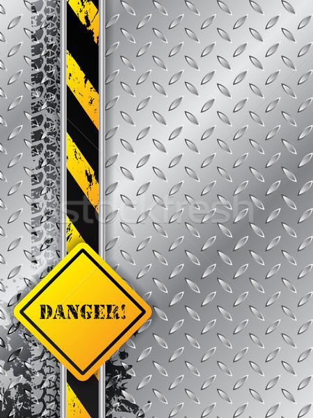 Resumen industrial neumático peligro texto diseno Foto stock © vipervxw