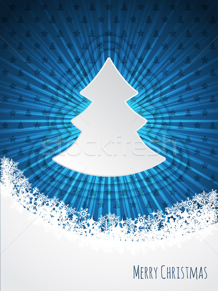 Blue christmas bursting greeting card design Stock photo © vipervxw