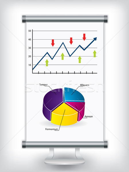 Roll up stand with charts Stock photo © vipervxw