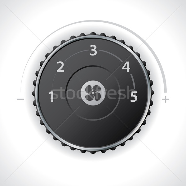 Lucht ventilatie snelheid dashboard ontwerp Stockfoto © vipervxw