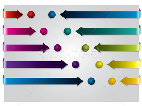 Arrows and dots Stock photo © vipervxw