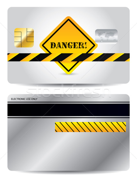 Credit card with danger sign  Stock photo © vipervxw