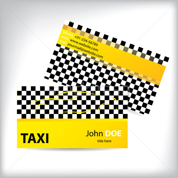 Taxi business card ideal for taxi drivers Stock photo © vipervxw