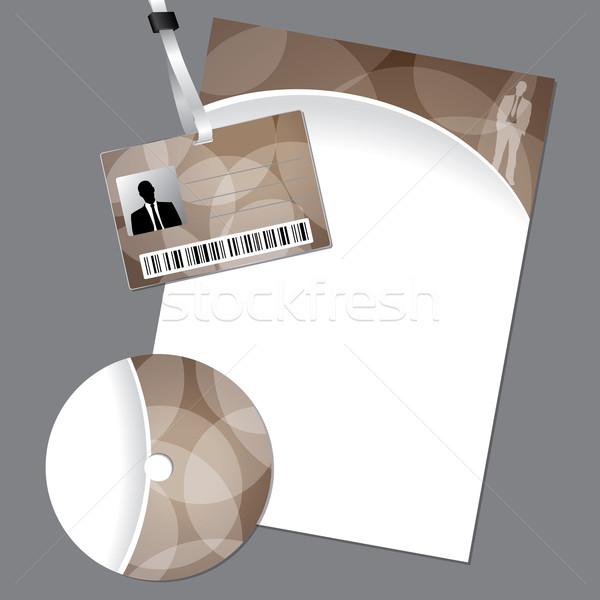Cég mozdulatlan vektor szett személyi igazolvány lemez Stock fotó © vipervxw