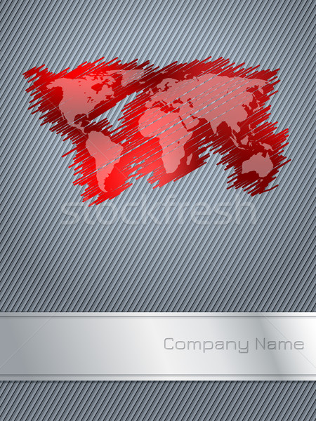 Striped and scribbled red business brochure design Stock photo © vipervxw