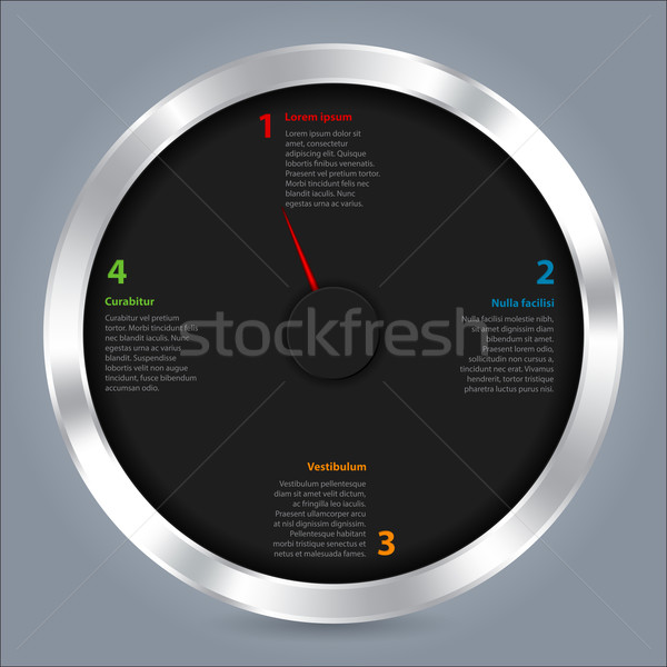 Résumé design réglable aiguille métallique Photo stock © vipervxw