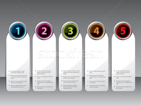Etiqueta establecer brillante color botones nuevos Foto stock © vipervxw