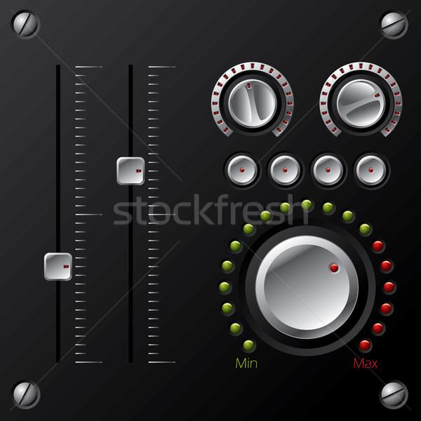 Hifi egyéb fém piros erő digitális Stock fotó © vipervxw
