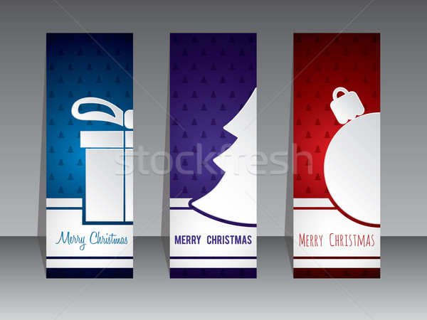 Christmas shopping label designs with symbols Stock photo © vipervxw
