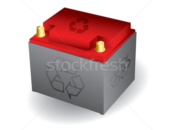 Isolated 12 volt car battery Stock photo © vipervxw