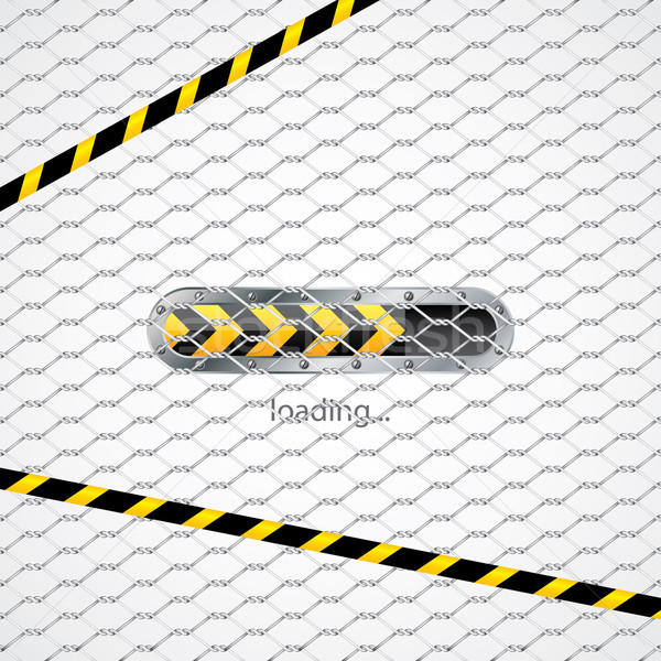Loading screen behind wired fence  Stock photo © vipervxw