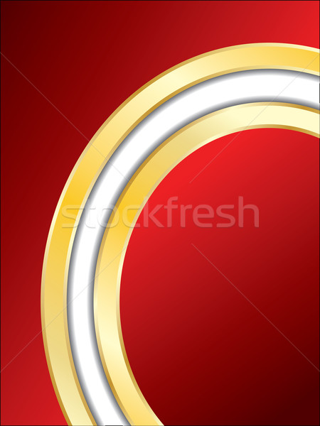 Piros terv arany háló nyomtatott kártya Stock fotó © vipervxw