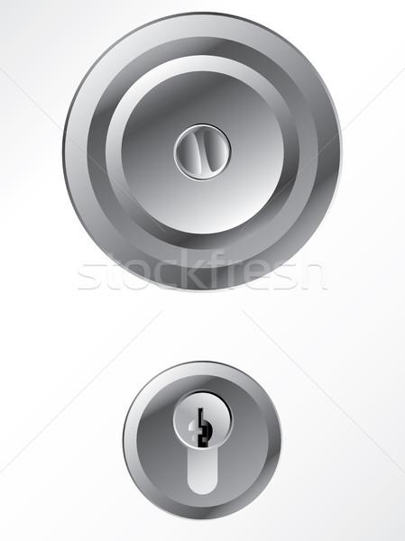 Door knob with lock  Stock photo © vipervxw