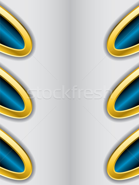Abstract background with gold trimming 2  Stock photo © vipervxw