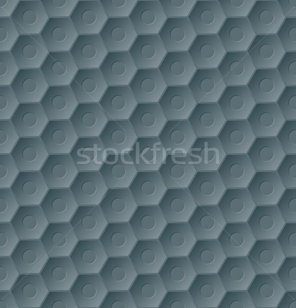 Escuro sem costura hexágono padrão 3D efeito Foto stock © vipervxw
