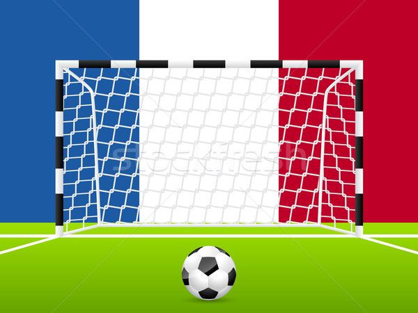 抽象的な サッカー フランス語 フラグ テンプレート スポーツ ストックフォト © vipervxw