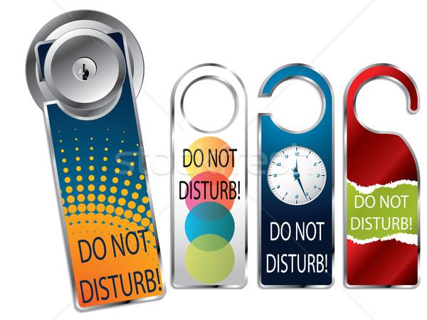 Do not disturb labels Stock photo © vipervxw