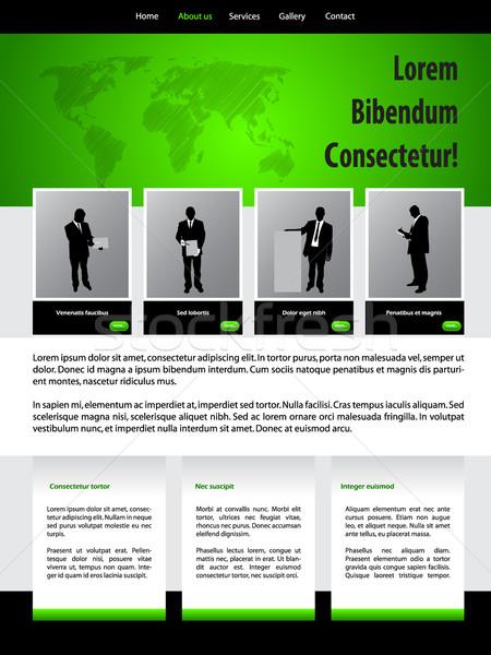 Design do site modelo pessoas de negócios verde negócio escritório Foto stock © vipervxw