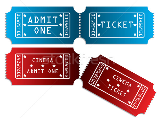 Various tickets in red and blue Stock photo © vipervxw