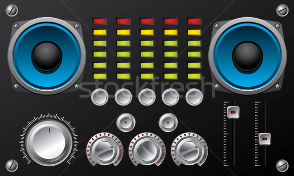 Amplifier with controls and equalizer leds  Stock photo © vipervxw
