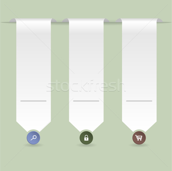 Ribbon infographic with green background Stock photo © vipervxw