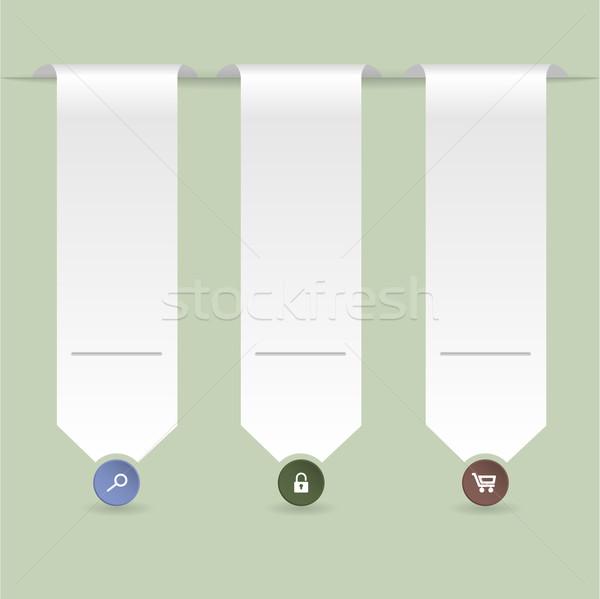 şerit yeşil dizayn kâğıt Internet Stok fotoğraf © vipervxw