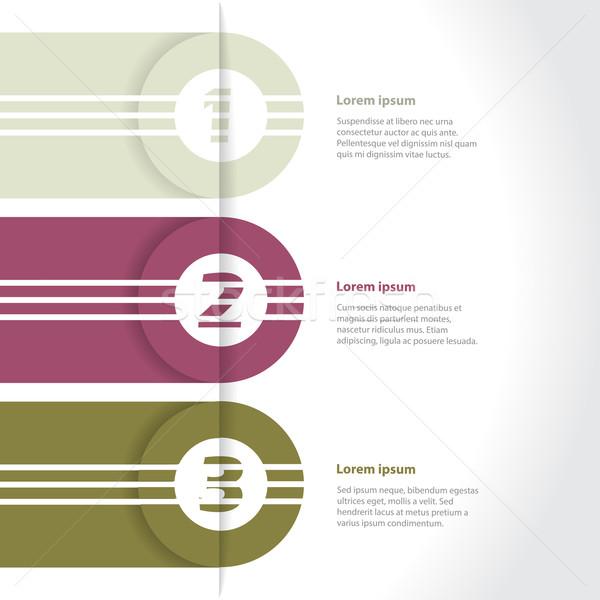 Cool new infographic design Stock photo © vipervxw