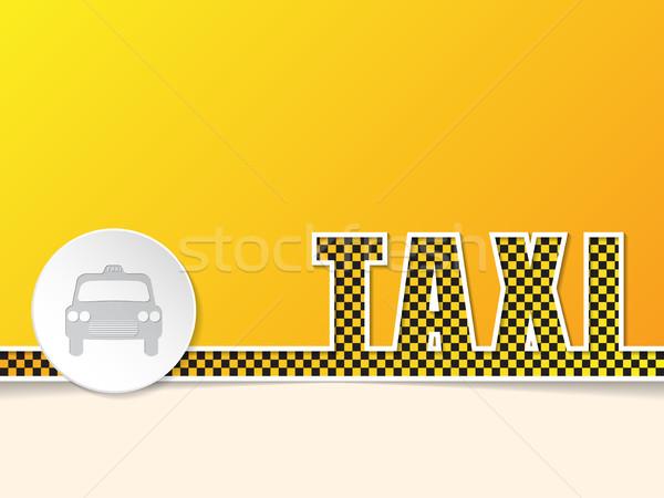 Taksi metin dizayn rozet turuncu Stok fotoğraf © vipervxw