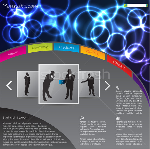 Site modèle design plasma effet tête Photo stock © vipervxw