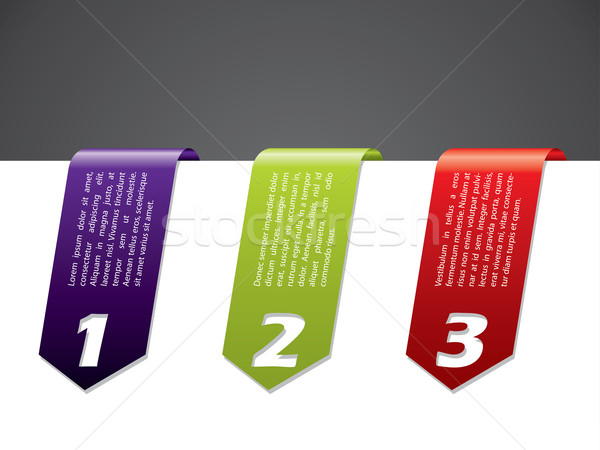 Color stationary banner set Stock photo © vipervxw