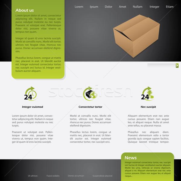 Worldwide shipping website template design Stock photo © vipervxw