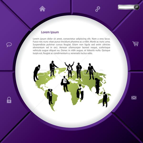 Hideg új absztrakt weboldal terv funkció Stock fotó © vipervxw